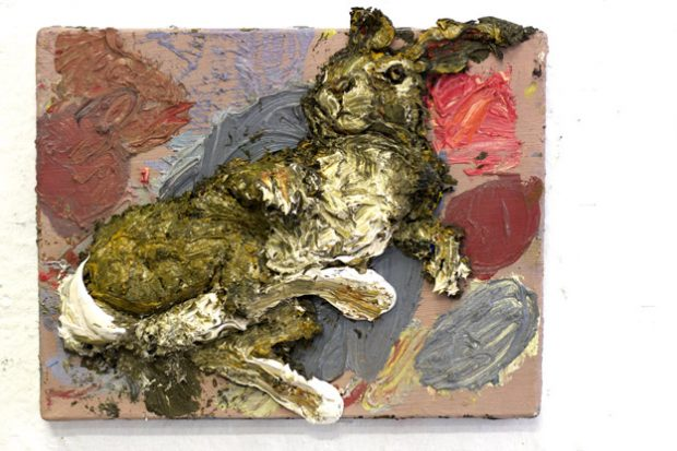 Pintura cadáver [Odio sobre lienzo] Conejo