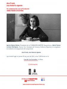 Ana Frank, una historia vigente - Casa de los Coroneles Fuerteventura